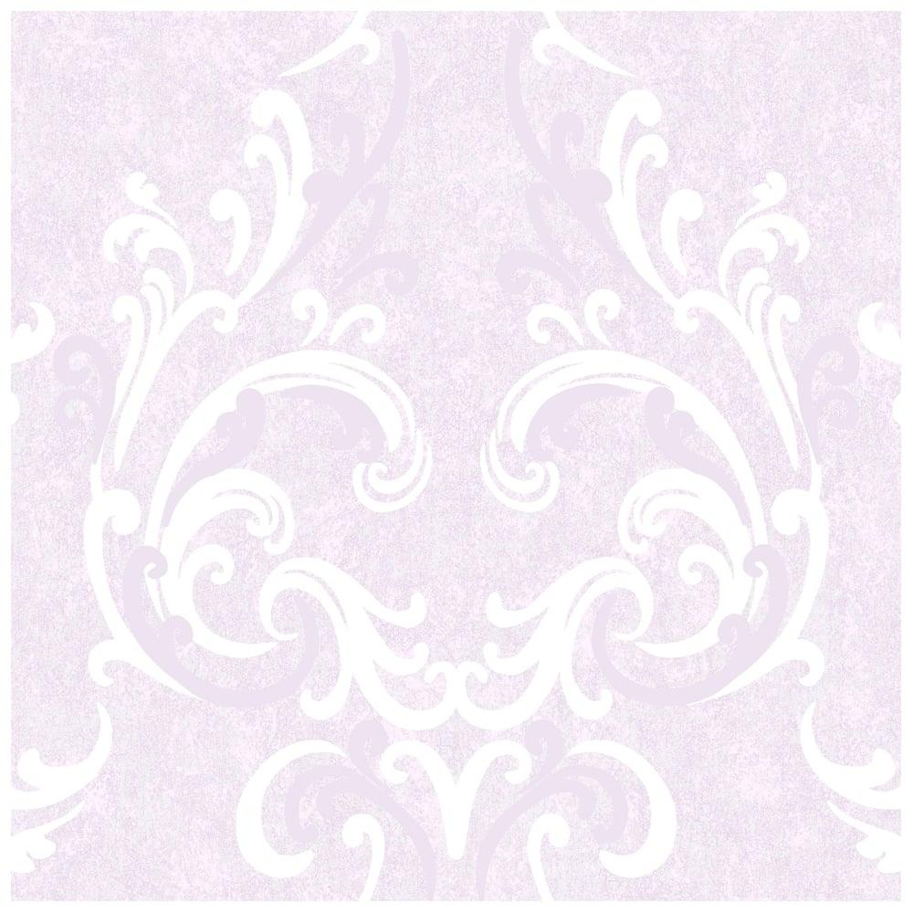 Juliette Damask Wallpaper Lilac Cream 136504