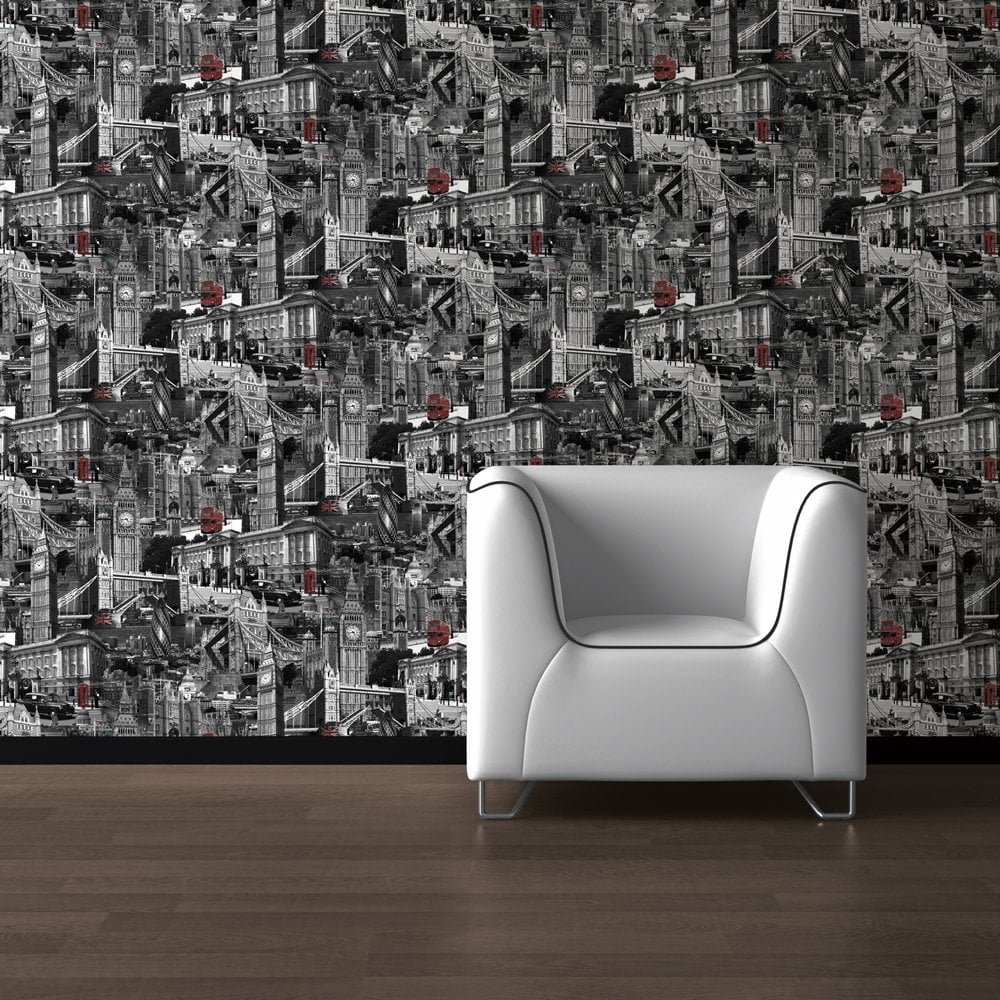 Muriva London City Wallpaper