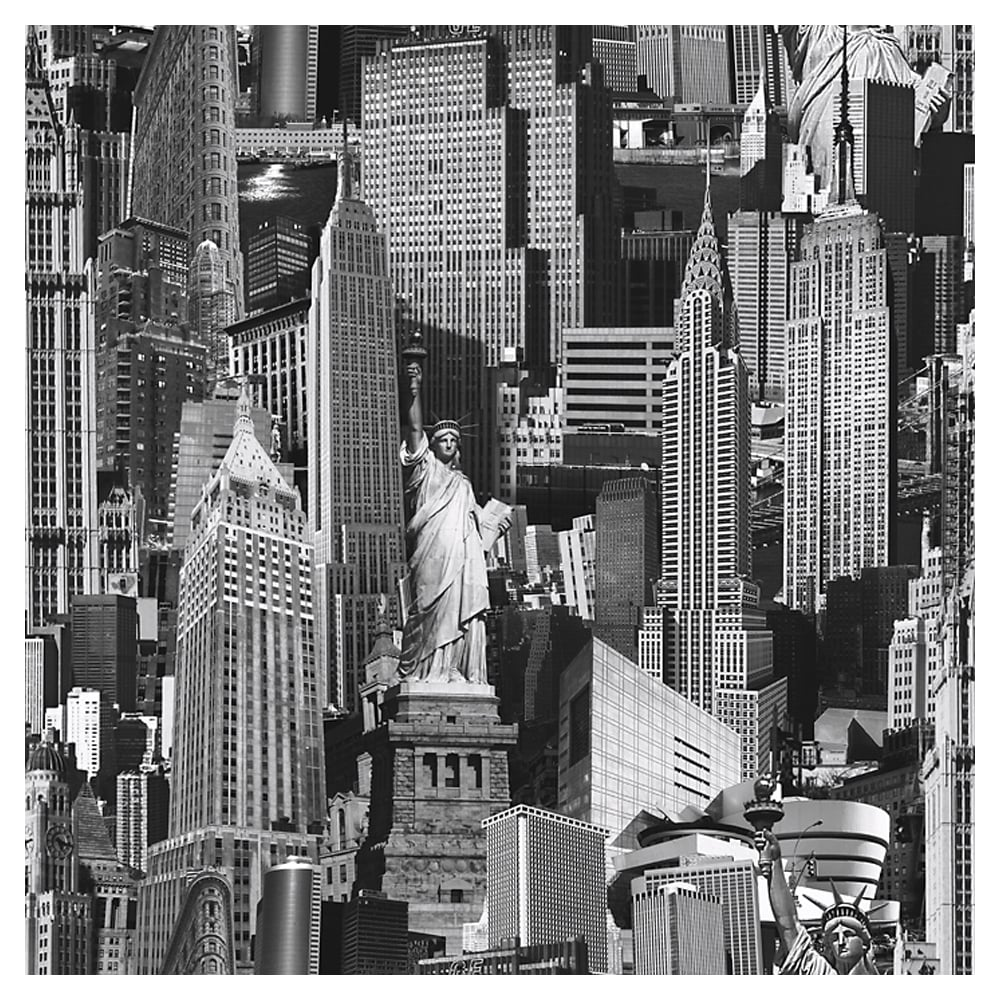 Muriva New York City Wallpaper Black White 102503