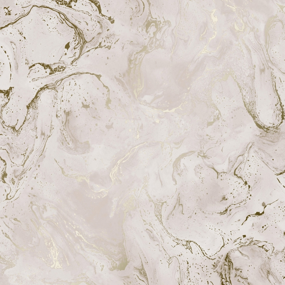 House Of Alice Onyx Marble Metallic Wallpaper Pink Gold