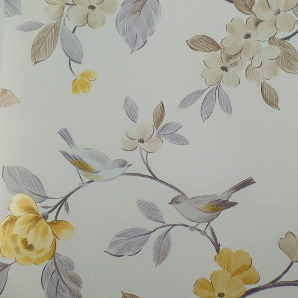 Arthouse Opera Lara Floral Wallpaper Yellow 414503 Wallpaper