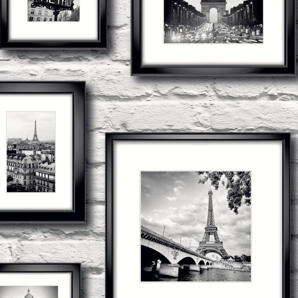 Muriva Paris In Frame Wallpaper Black White 77209 Wallpaper