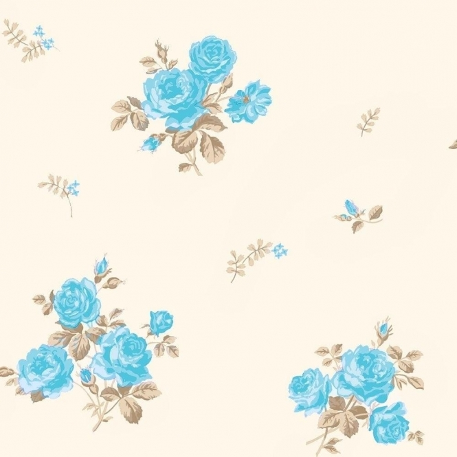 Coloroll Pippa Floral Wallpaper Peppermint (M0728)