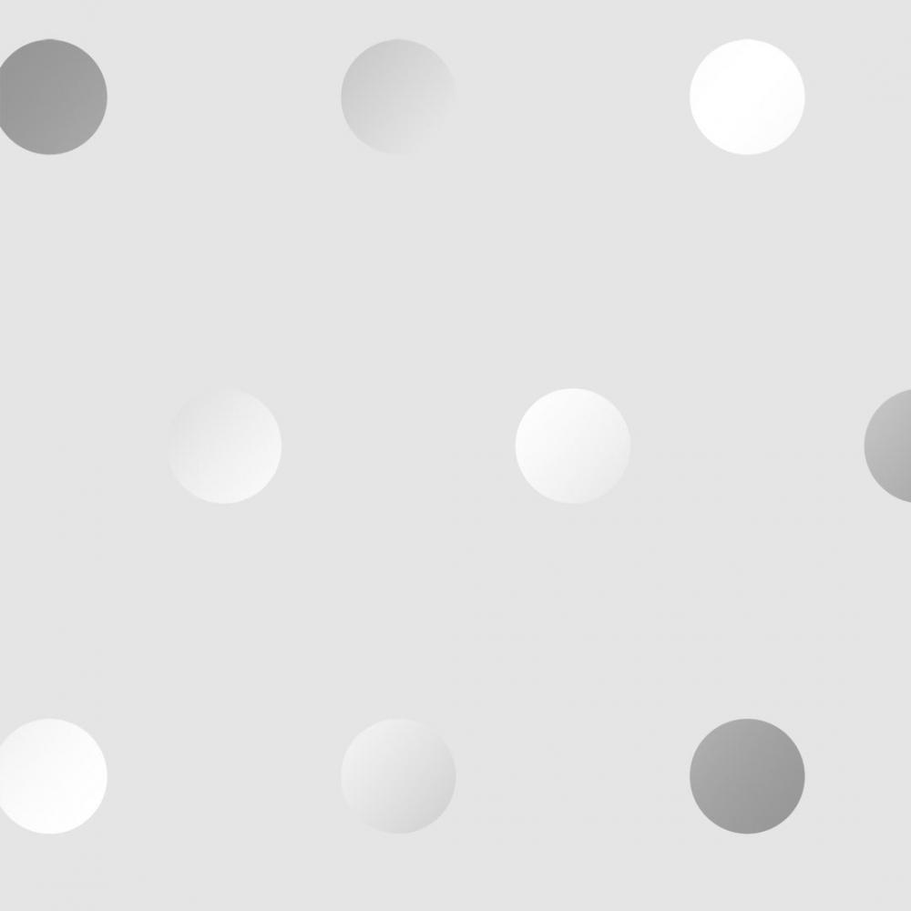 I Love Wallpaper Polka Dots Wallpaper Grey Silver
