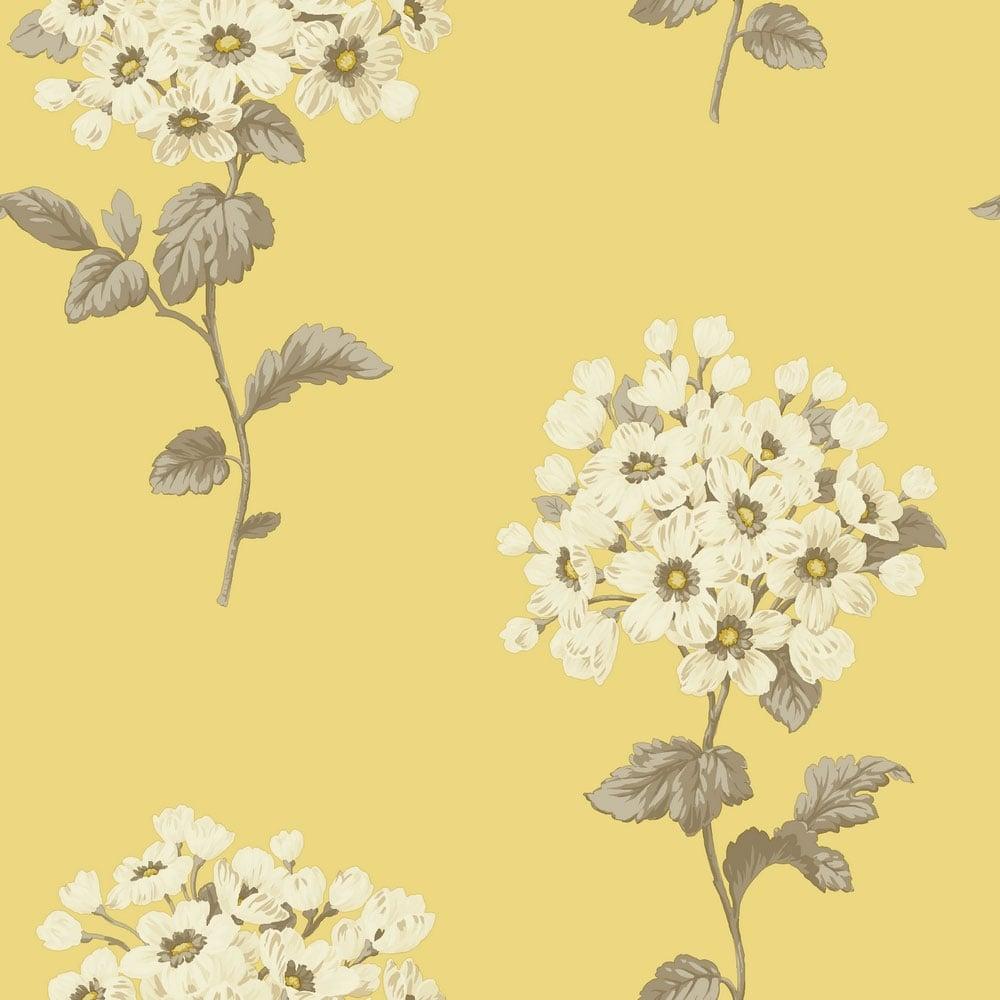 Sophie Conran Pom Pom Floral Wallpaper Yellow 664502 Wallpaper