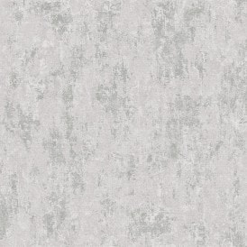 **Sample** Milan Metallic Wallpaper Grey, Silver (ILW20008-SAMPLE)