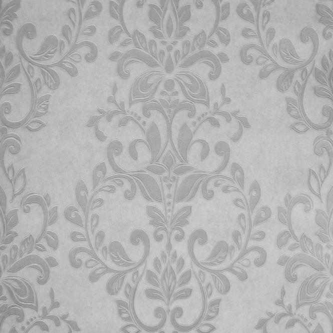 Muriva Serafina Damask Wallpaper Silver Soft Grey 701310