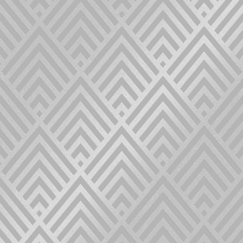 Henderson Interiors Shard Glitter Geometric Wallpaper Grey