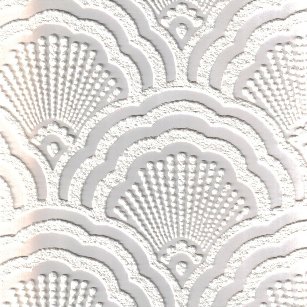 Fine Decor Supatex Shell Pure White Textured Paintable ...