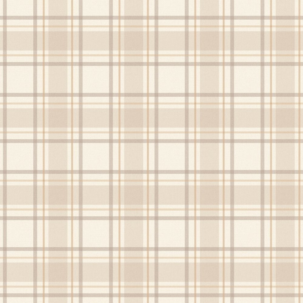 I Love Wallpaper Tartan Wallpaper Neutral Beige Cream