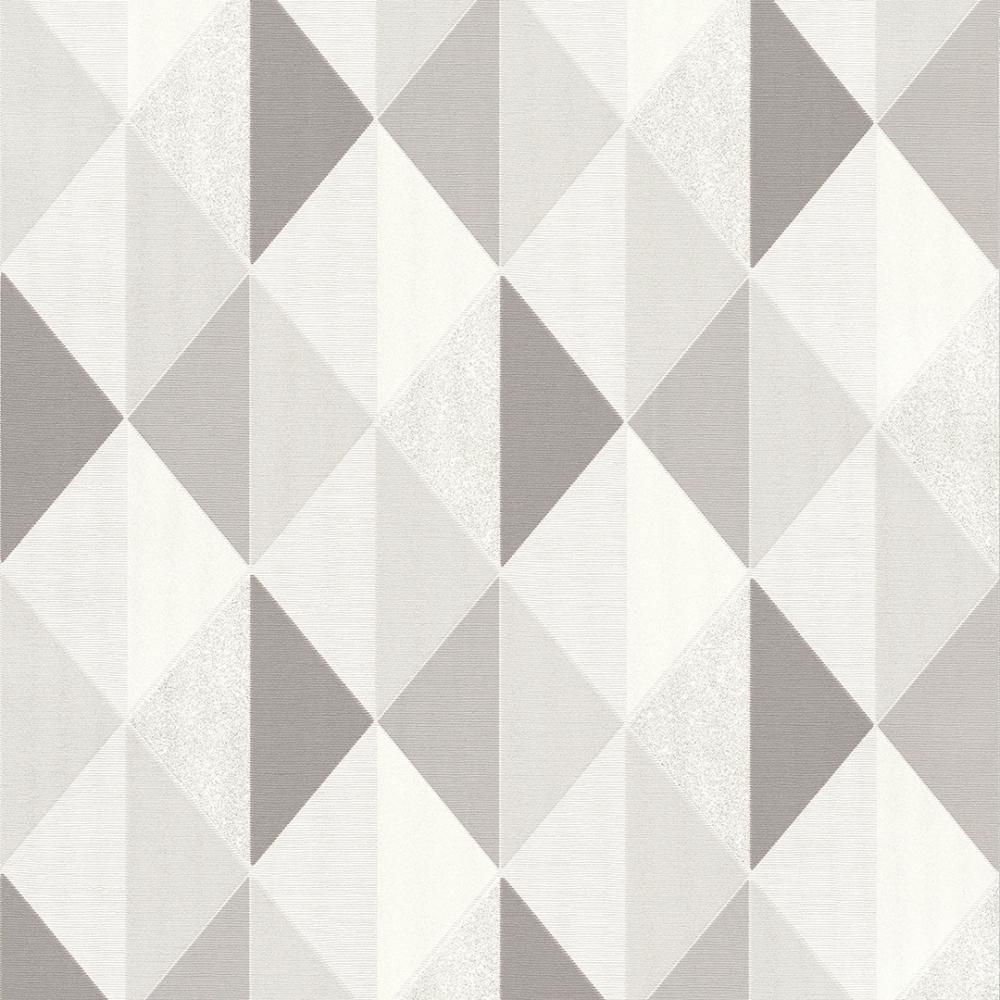 I Love Wallpaper Tate Geometric Triangle Wallpaper Grey