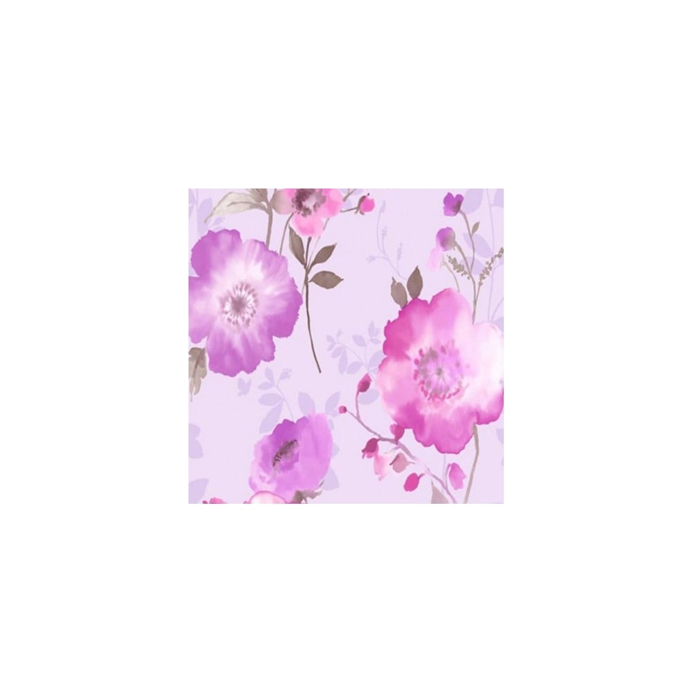 Vymura Delicia Floral Wallpaper Metallic Soft Pink Lavender