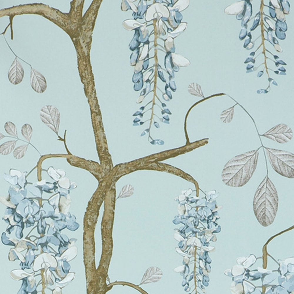Jocelyn Warner Wisteria Hand Screen Printed Floral Wallpaper