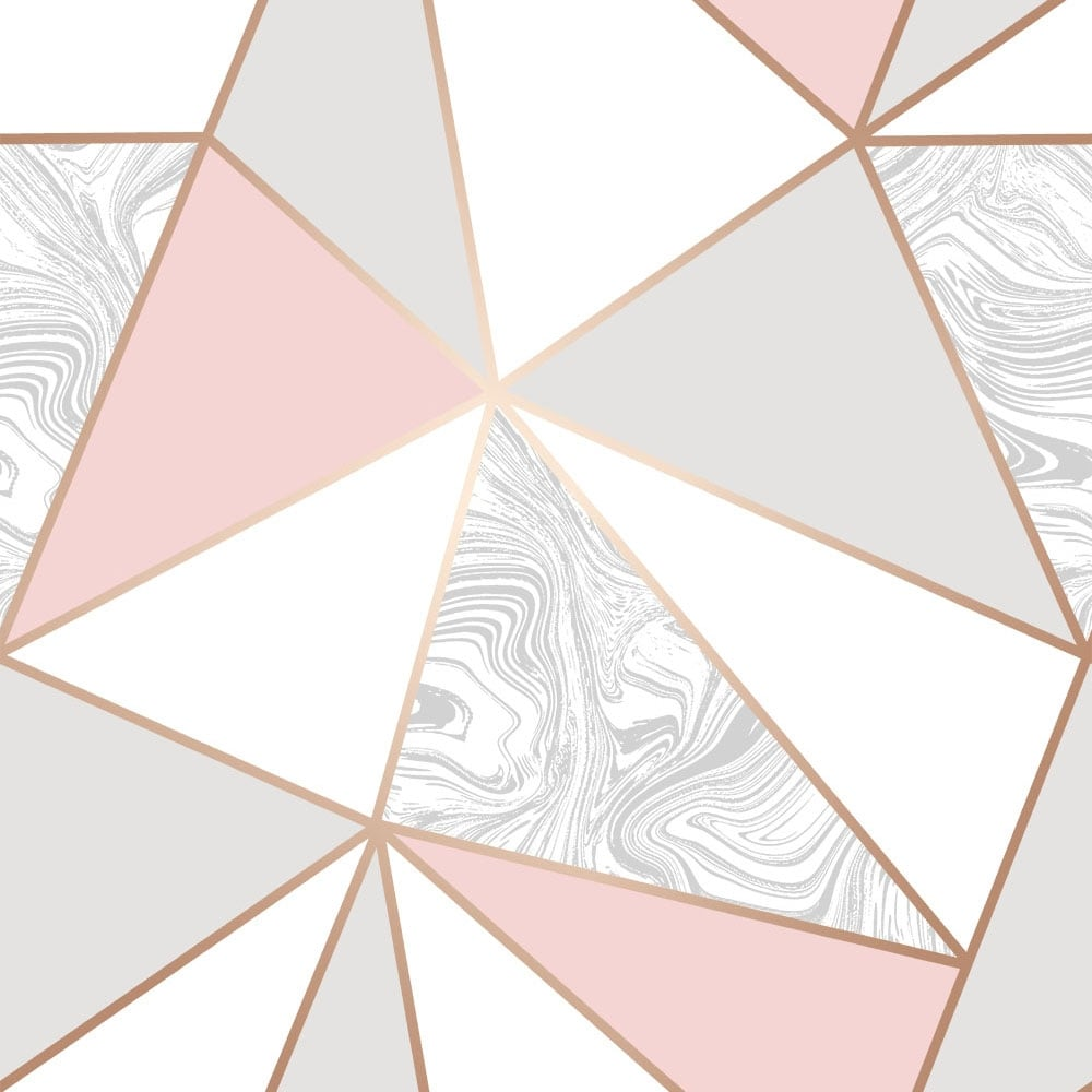 I Love Wallpaper Zara Marble Metallic Wallpaper Soft Pink