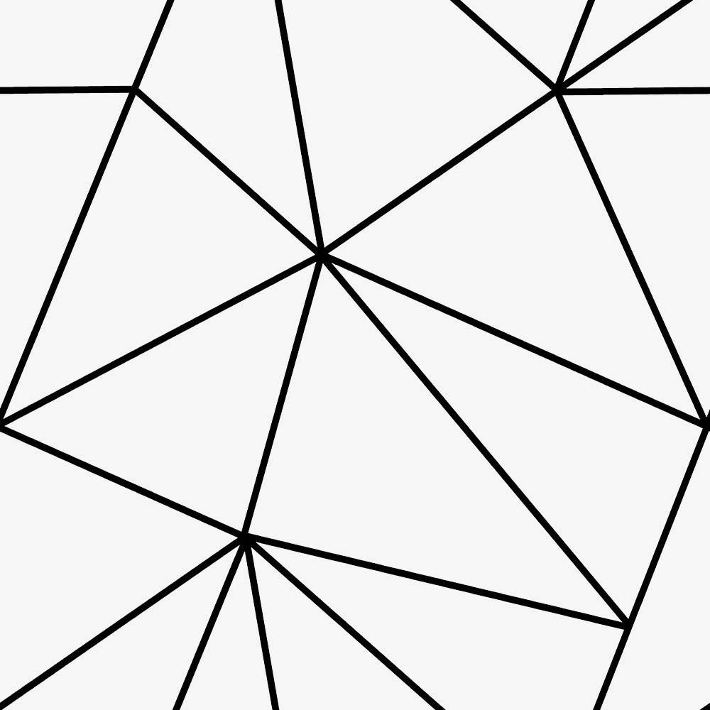 Zara Mono Geometric Wallpaper White Black I Love Wallpaper